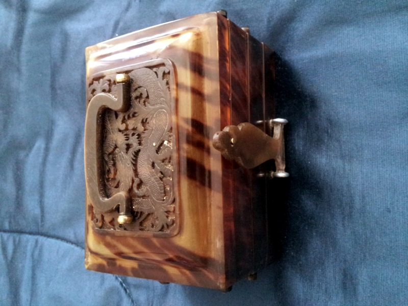 Turtle shell box - cleaned and restored to original condition